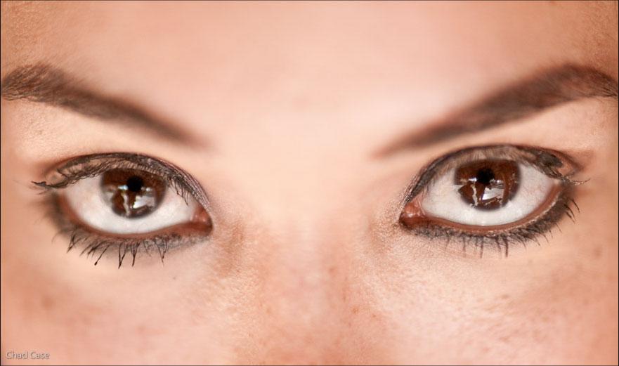 The eyes of Miss Peru.